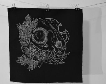 Cat Skull Back Patch