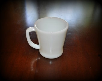 Vintage Fire King Milk Glass Coffee Mug, Great Condition!!