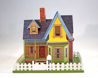 """Make your own miniature house inspired by the movie """"UP"""""""