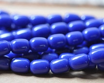 Large Blue Resin Bead 16 Inches Strand Bead Size 11x15MM