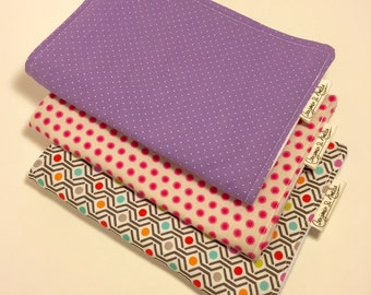 Modern Print Burp Cloth set