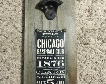 Chicago Cubs Vintage Style Wall Mounted By Customdesignsbycmj