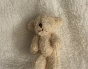 Mini Plush bear for Silicone/Reborn babies 6-12''