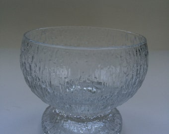 Rippled Ice Texture Kekkerit Dessert Bowl by Iittala