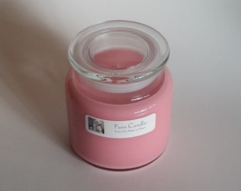 16oz Apothecary Rose with Flat lid.
