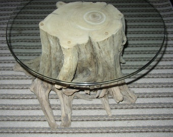 Beautiful one of a kind all natural driftwood coffee / end table