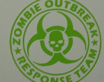 4 by4 zombie outbreak decal