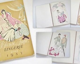 Vintage Catalogue of Fashions 1957 'Blouse Jupe Lingerie' Catalog Fashion Book Magazine 50s Retro Fashion Magazine Vintage Ephemera #66