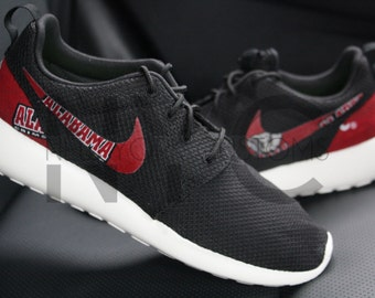 Nike Roshe Run Black Alabama Crimson Tide Custom