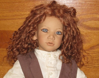 """1996 Annette Himstedt CHARLY 22-inch Doll - """"Boy From Chicago"""" (Missing Hat & Shoes)"""