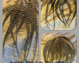 12 natural grizzly Rooster feathers