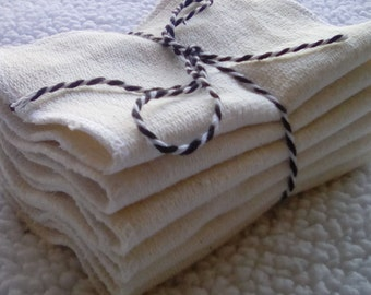 Organic terry cloth wipes. Cloth diapering, family cloth