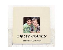 I Love My Cousin Gift For Cousin Cousin Personalized Picture Frame Cousin Gift christmas gift gift for cousin
