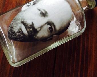 WEB Dubois whiskey Flask OOAK