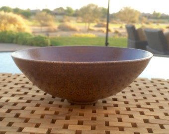 modern serving bowl décor handmade wheel thrown rust Haight Pottery Company