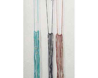 Z O Ë A | Fringe Necklace | Boho Necklace