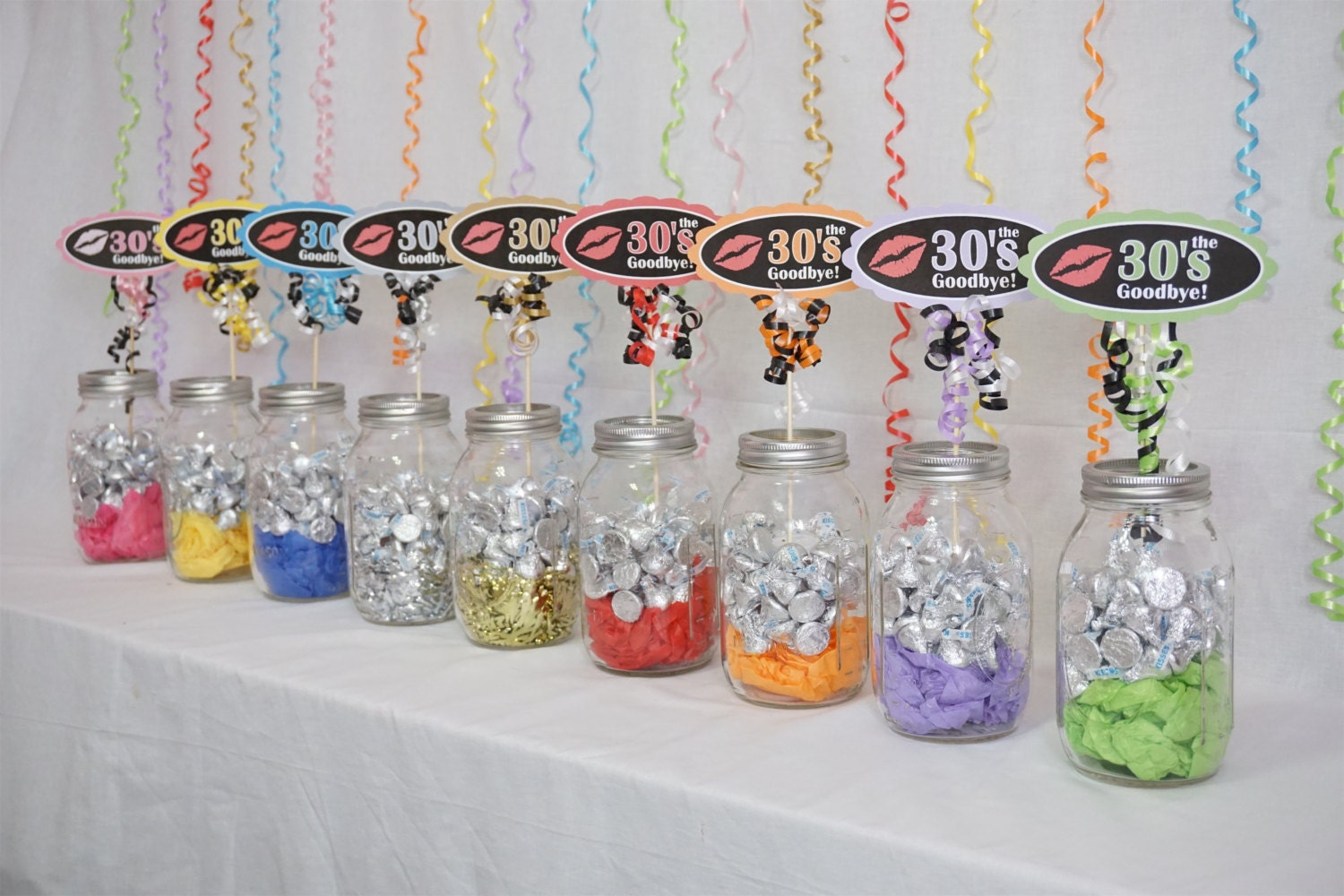 40th birthday decoration available in 9 colors 40th candy for 40th birthday decoration