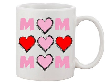 Mom with Hearts/ Mother's Day Mug