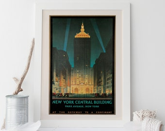 NEW YORK CITY Travel Poster