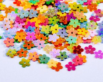 A fun mix of happy colored flower sequins / paillettes