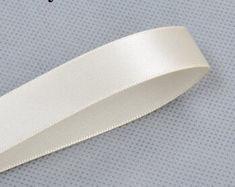 Ivory ribbon double sided satin ribbon 100 yards