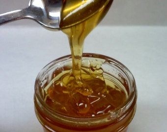Sweet Orange Blossom Honey Sauce ~ 4 ounce jar ~ Colorado Wildflower Honey