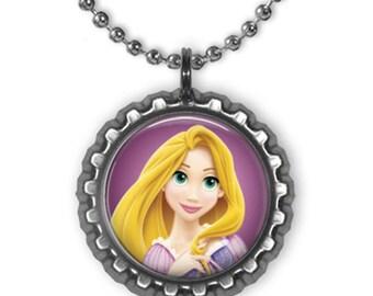 Disney Princess RAPUNZEL Tangled 3D Bottle Cap Necklace | Bracelet