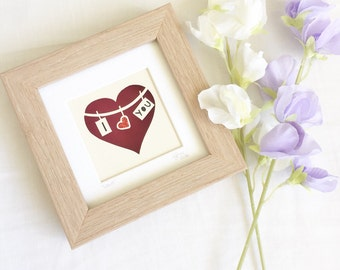 I love you gifts, papercut, papercut art, anniversary gifts, gifts for her, papercutting, home décor.