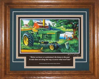 John Deere Model 4020  with inspirational copy,