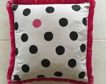 Handprinted on Linen Cushion
