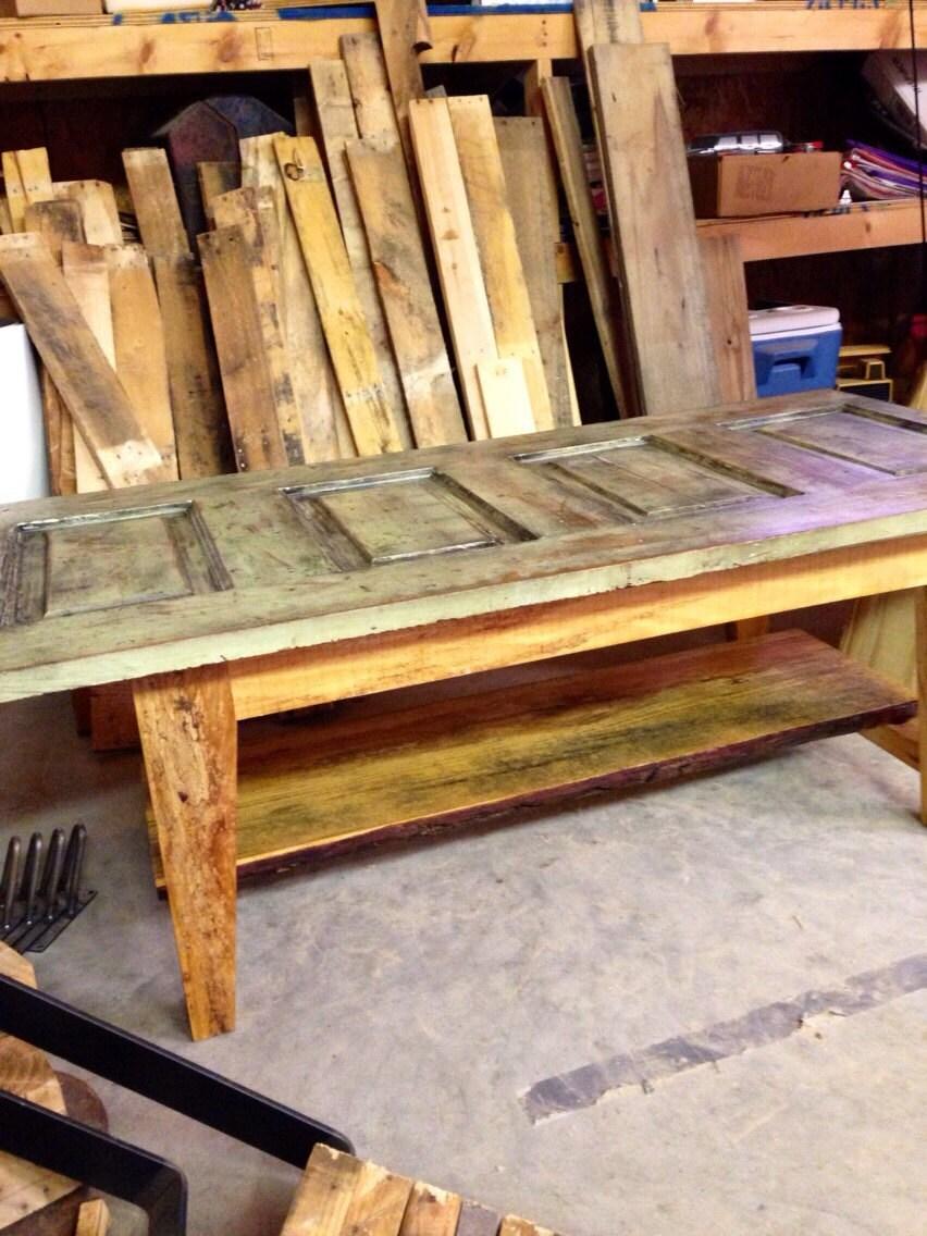 Vintage Modern Salvaged Door Coffee Table