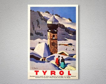 Tyrol Austria Vintage Travel Poster - Poster Print, Sticker or Canvas Print / Gift Idea