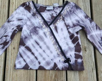 Tie Dyed Girls Sequined Top