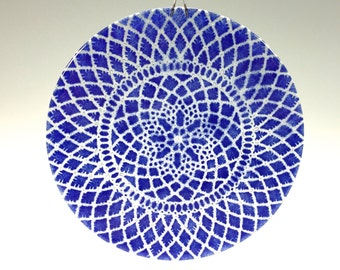 Cobalt Blue Suncatcher Blue Lace Window Hanging