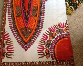 Traditional Ankara fabric  - White six yards
