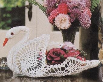 Crochet Swan Pattern,Instant Download, Vintage CROCHET PDF, 1960s,Crochet Swan,Swan,Crochet Pattern,Digital Download Immediately