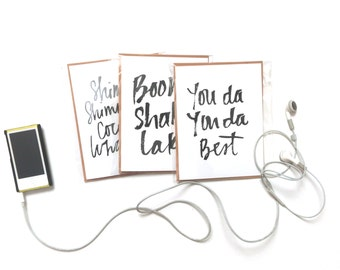 Congratulations and Graduation Card Set of 3, Hip Hop Inspired Cards