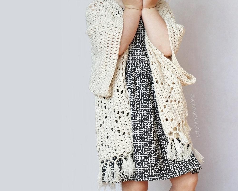 Crochet Pattern Kenzie Kimono by Lakeside Loops includes 5