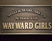 Marvels Deadpool School for Wayward Girls sign plaque Daredevil Hellhouse
