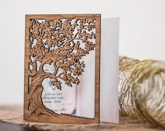 custom wooden invitation, rustic wedding invitation, modern invitation suite, garden wedding invitation, open wedding, burlap invitation
