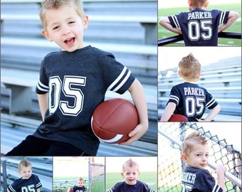 Football birthday shirt, football party, sports birthday shirt, youth football jersey, toddler football jersey, boys birthday party