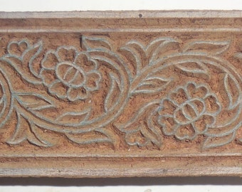 Vintage wood Block Stamp For Textile / Fabric Handmade & Hand Carved For Printing By Hand #Te-1
