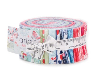 MODA JELLY ROLL | Kate Spain | Aria | Floral Jelly Roll | Quilting Fabric