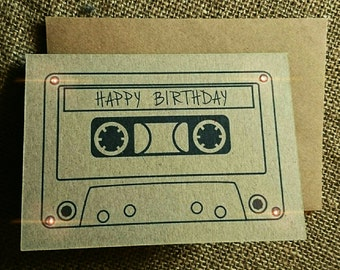 "Mix Tape ""Happy Birthday"" greeting card"