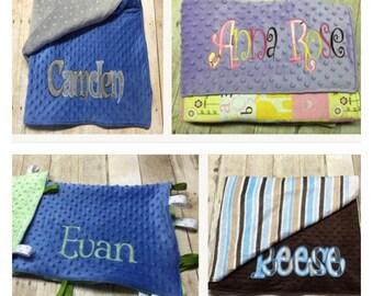 Custom baby blanket with jumbo name