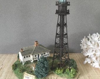 Vintage lighthouse figurine | vintage Sanibel Island lighthouse collectible | Harbor Lights Great Lighthouses of the World | D99