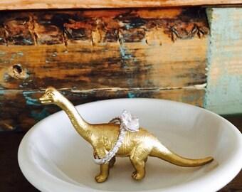 Ring Holder, Dinosaur, Velociraptor, Brontosaurus, Customizable Dinosaur Ring Holder