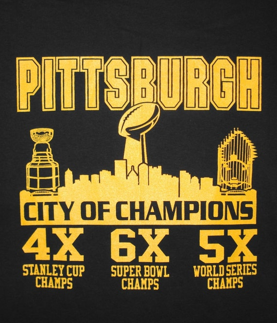 Pittsburgh Steelers Pirates Penguins T Shirt Size Adult S 6xl