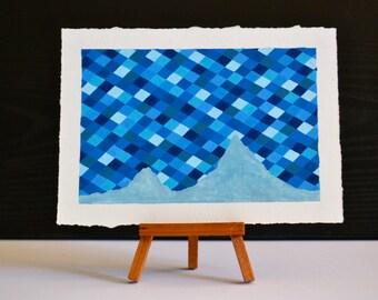 Midnight Diamond Mountain Original Oil Painting