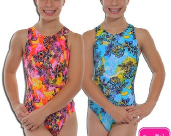 Blue or Pink Lacey Gymnastics or Dance Leotard